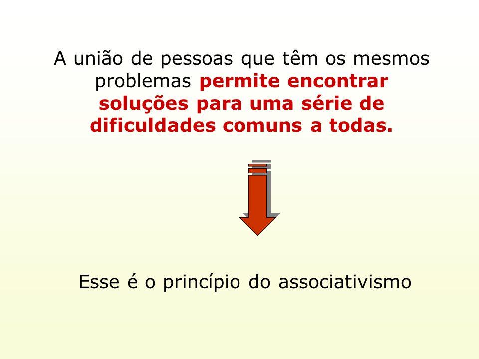 A união de pessoas que têm os mesmos problemas permite encontrar soluções para uma série de dificuldades comuns a todas. Esse é o princípio do associa