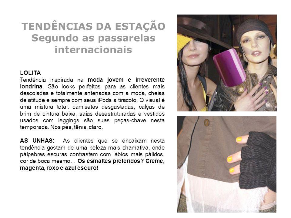 TENDÊNCIAS DA ESTAÇÃO Segundo as passarelas internacionais LOLITA Tendência inspirada na moda jovem e irreverente londrina. São looks perfeitos para a