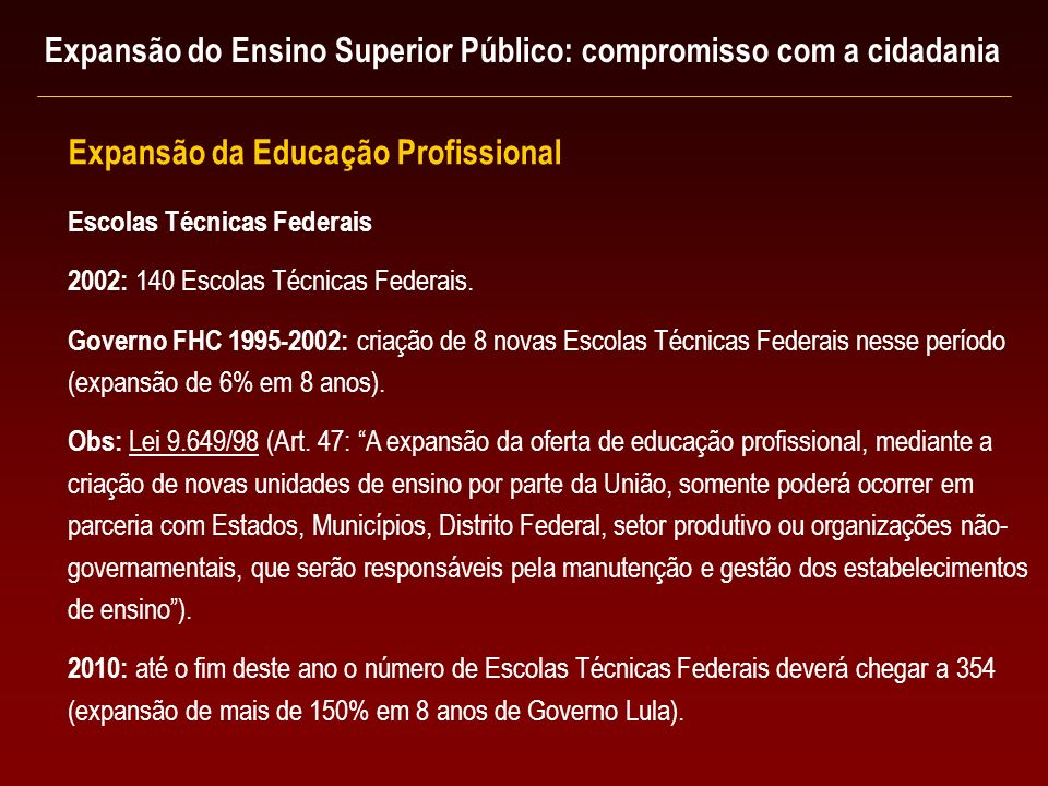 Escolas Técnicas Federais 2002: 140 Escolas Técnicas Federais.
