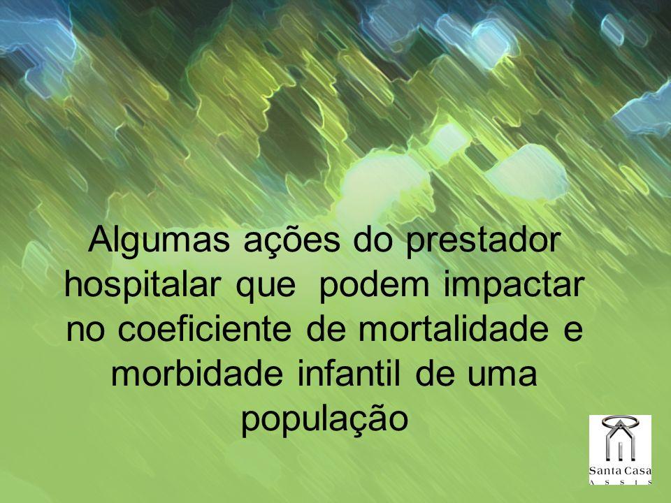 Algumas ações do prestador hospitalar que podem impactar no coeficiente de mortalidade e morbidade infantil de uma população