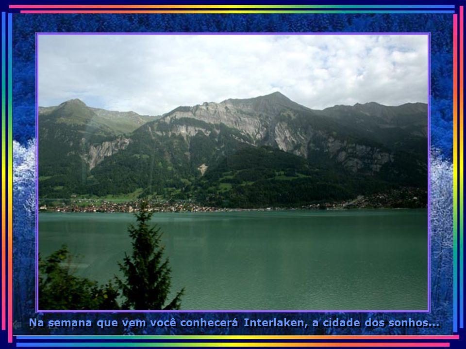 Hoje mostramos apenas o caminho de Zurique até Interlaken...