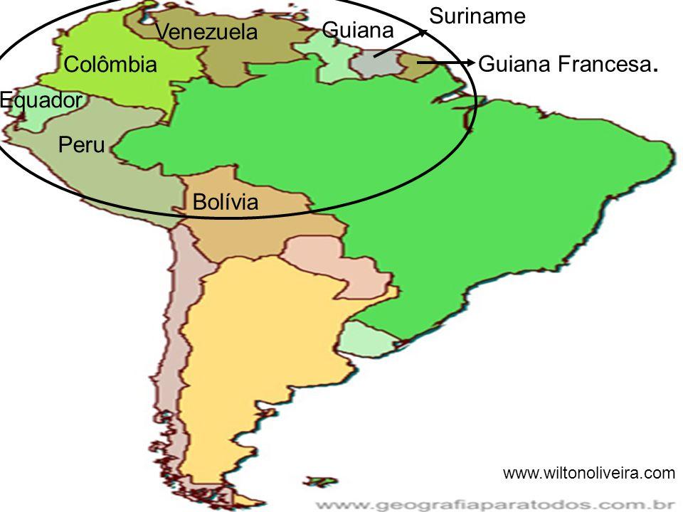 Peru Colômbia Guiana Venezuela Equador Suriname Guiana Francesa. Bolívia www.wiltonoliveira.com