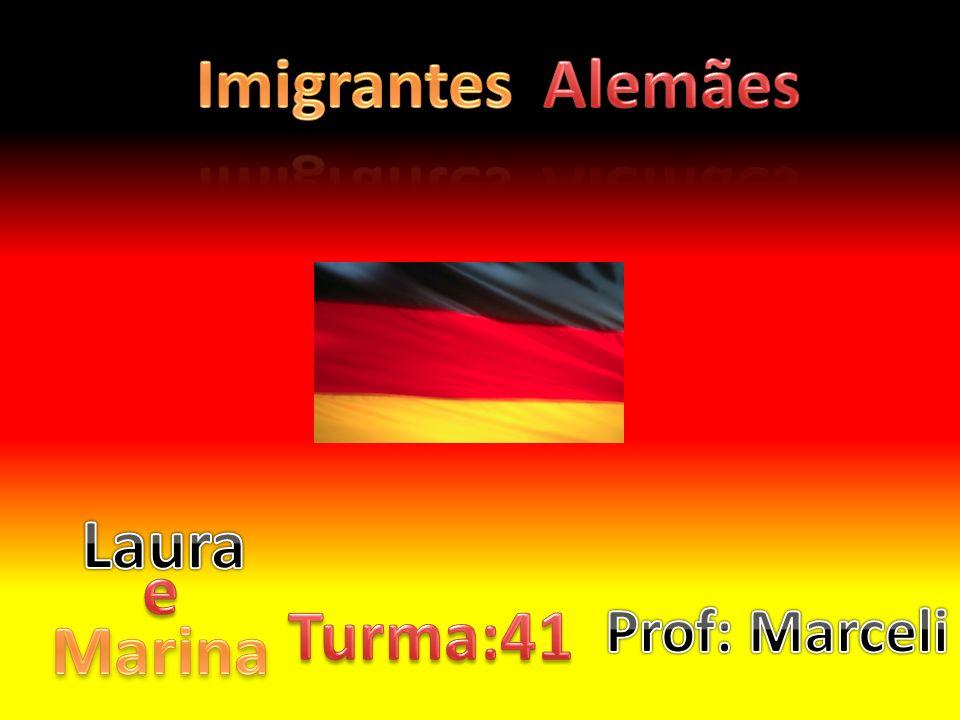 Os imigrantes alemães vieram de barco, a viagem durou mais ou menos trinta e seis dias, algumas pessoas pegaram doenças e algumas até morreram.