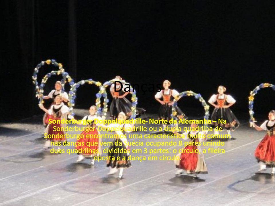 Danças Sonderburger Doppelquadrille- Norte da Alemanha – Na Sonderburger Doppelquadrille ou a dupla quadrilha de Sonderburgo encontramos uma caracterí