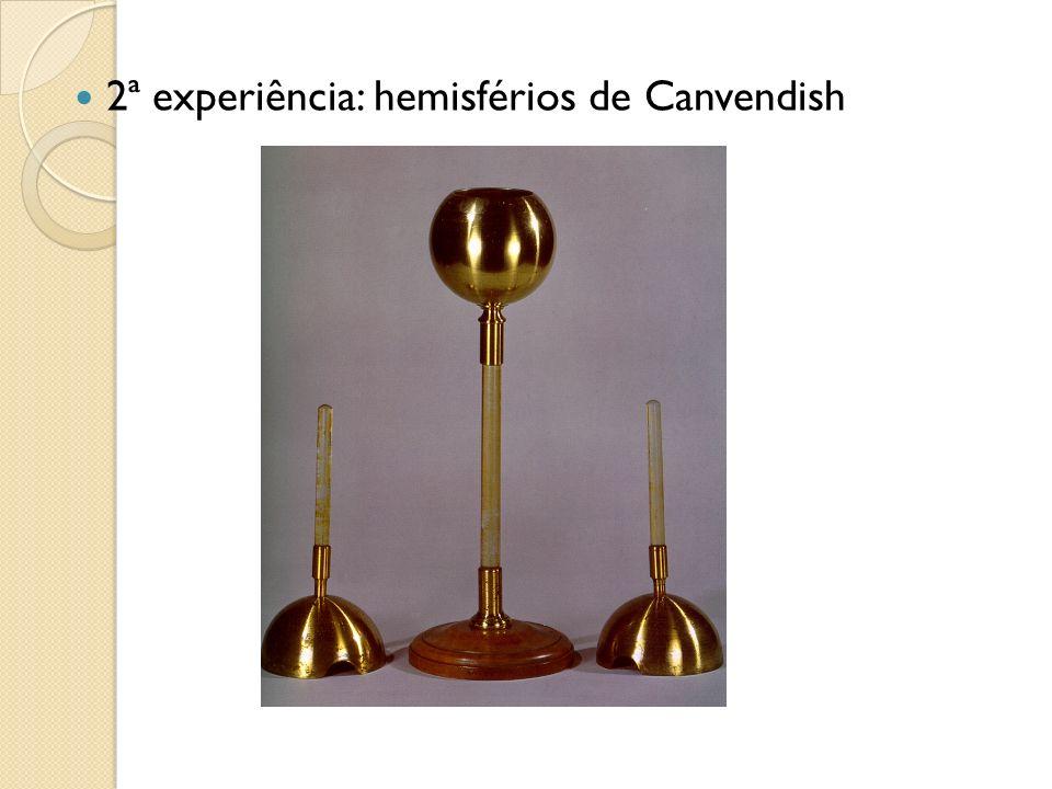2ª experiência: hemisférios de Canvendish