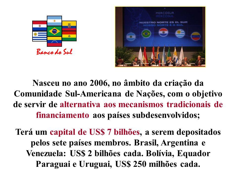 Nasceu no ano 2006, no âmbito da criação da Comunidade Sul-Americana de Nações, com o objetivo de servir de alternativa aos mecanismos tradicionais de