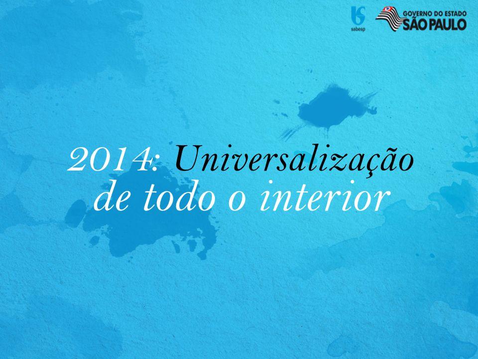 2014: Universalização de todo o interior