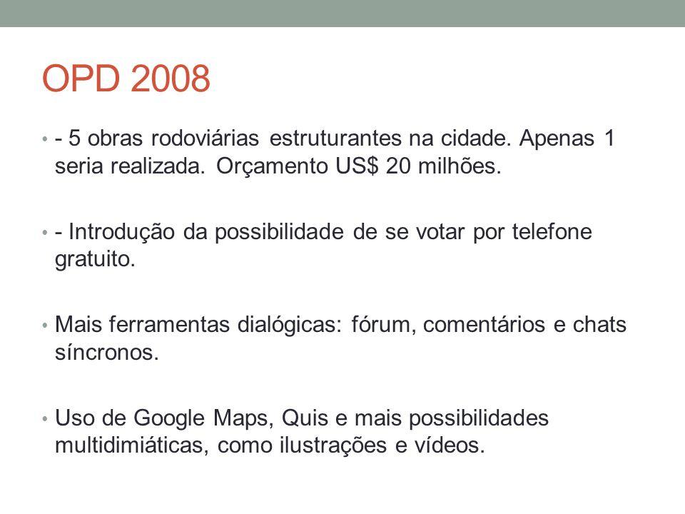 OPD 2008 - 5 obras rodoviárias estruturantes na cidade.