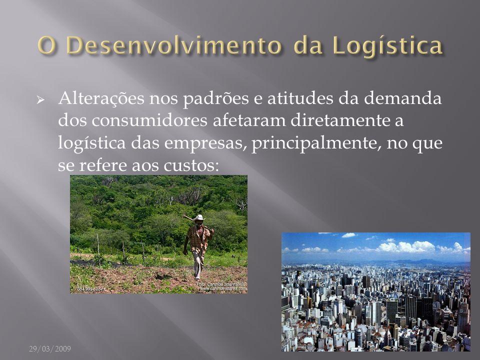 Alterações nos padrões e atitudes da demanda dos consumidores afetaram diretamente a logística das empresas, principalmente, no que se refere aos cust