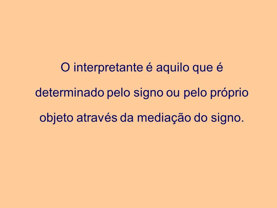 O interpretante é aquilo que é determinado pelo signo ou pelo próprio objeto através da mediação do signo.