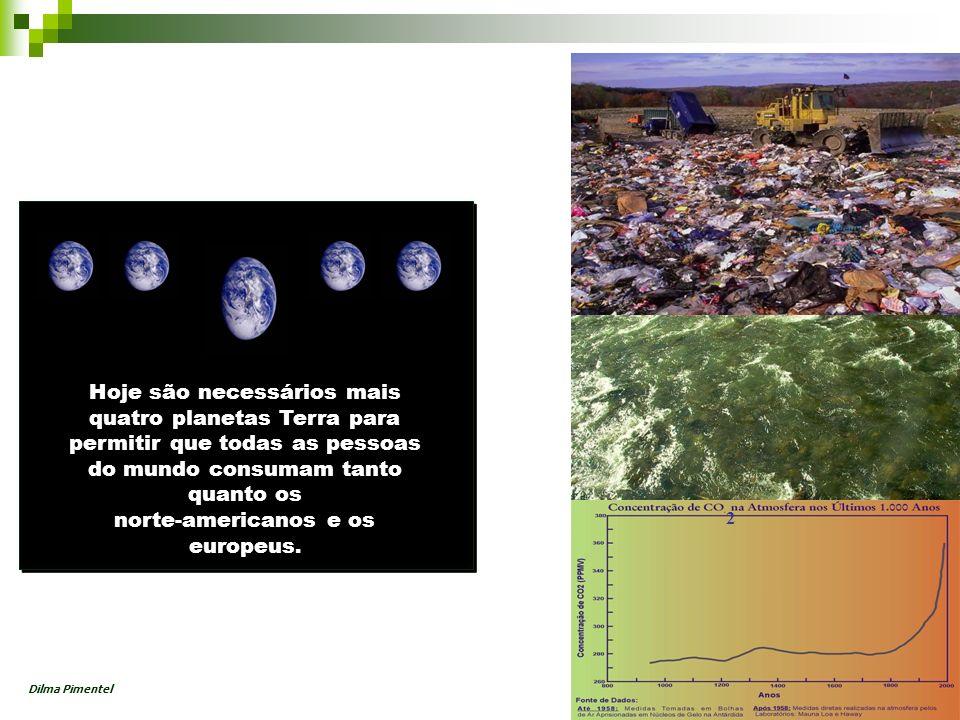 2 Hoje são necessários mais quatro planetas Terra para permitir que todas as pessoas do mundo consumam tanto quanto os norte-americanos e os europeus.