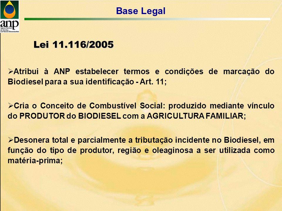 Atribui à ANP estabelecer termos e condições de marcação do Biodiesel para a sua identificação - Art.