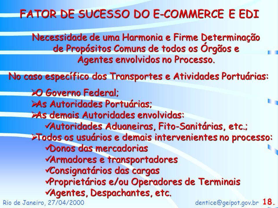 dentice@geipot.gov.brRio de Janeiro, 27/04/2000 Necessidade de uma Harmonia e Firme Determinação de Propósitos Comuns de todos os Órgãos e Agentes env