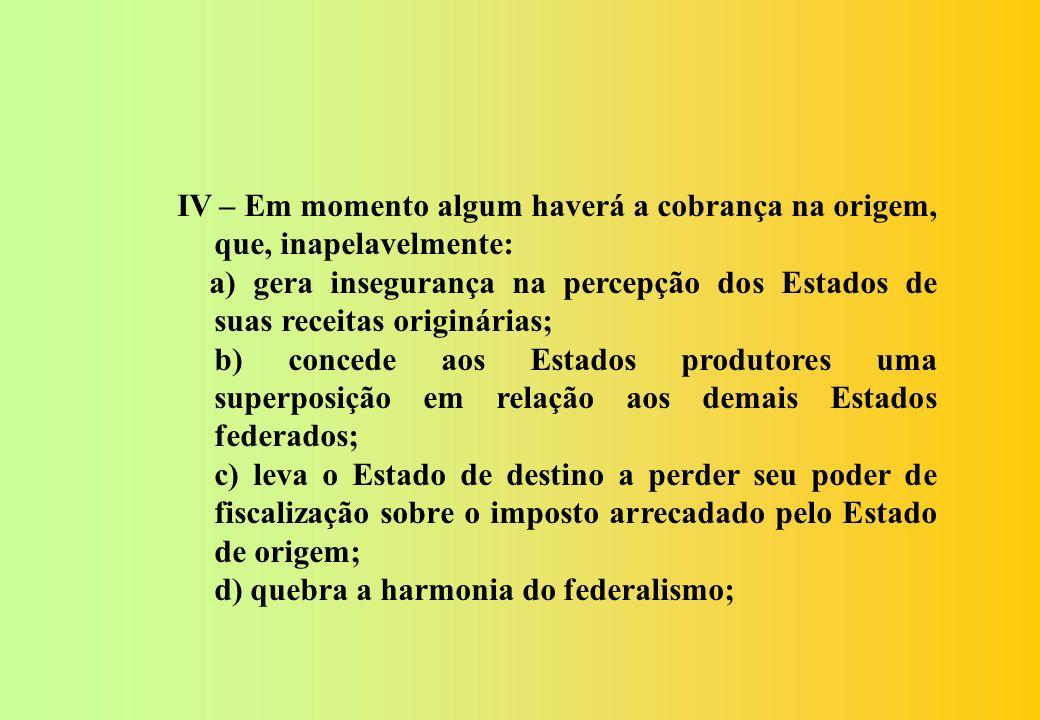Com esta exposição podemos concluir que: I - A proposta da FENAFISCO, embora altere todo o texto do atual Sistema Tributário Nacional é simples e harm