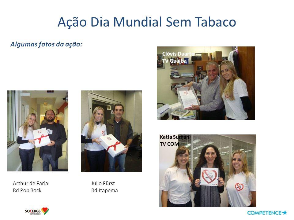 Ação Dia Mundial Sem Tabaco Algumas fotos da ação: Rogério Mendelski Lasier Martins Farid Germano