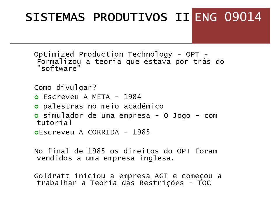 Optimized Production Technology - OPT - Formalizou a teoria que estava por trás do