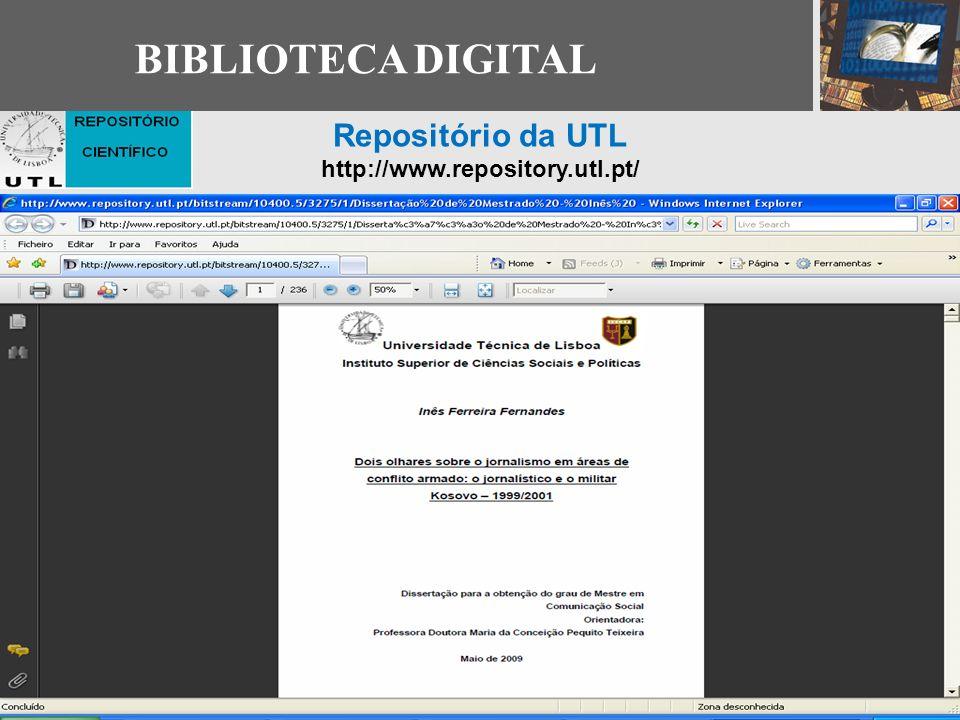 BIBLIOTECA DIGITAL Repositório da UTL http://www.repository.utl.pt/