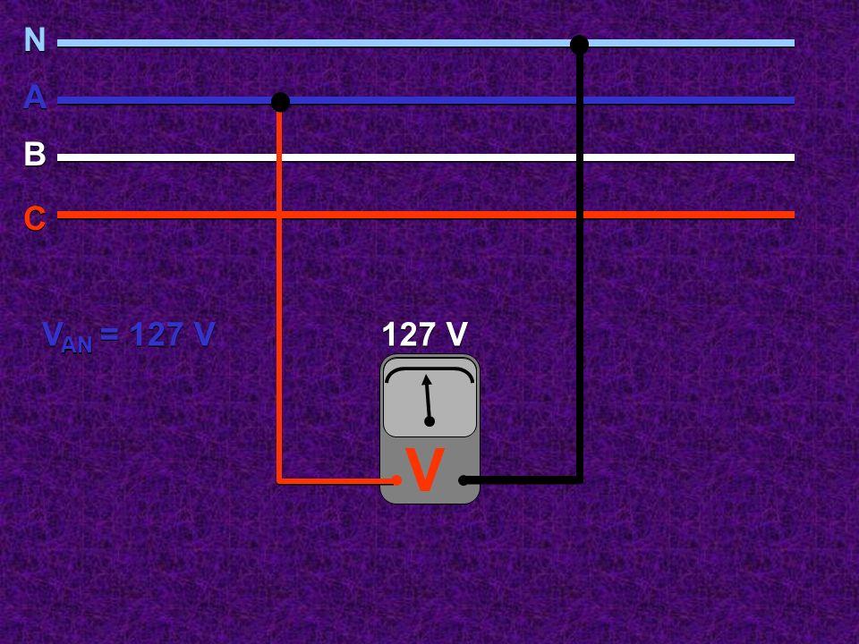 V N N A A B B C C 127 V V AN = 127 V