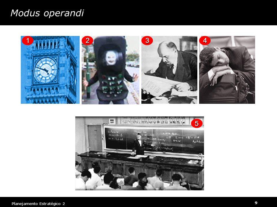 Planejamento Estratégico 2 9 Modus operandi 12 3 4 5