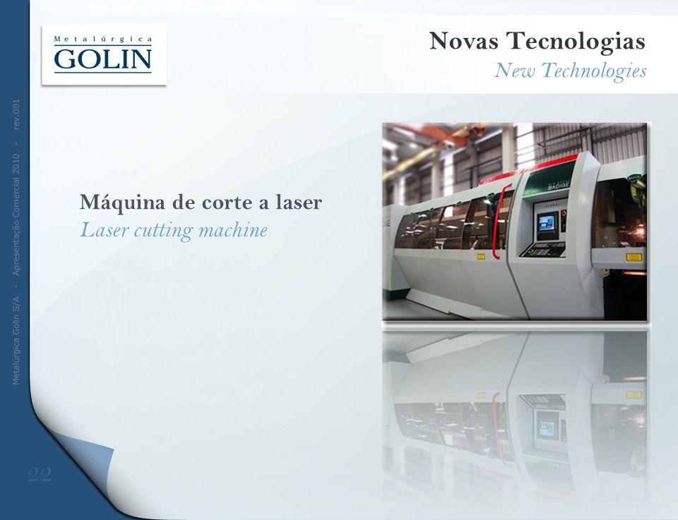 Máquina de corte a laser Laser cutting machine Novas Tecnologias New Technologies 22
