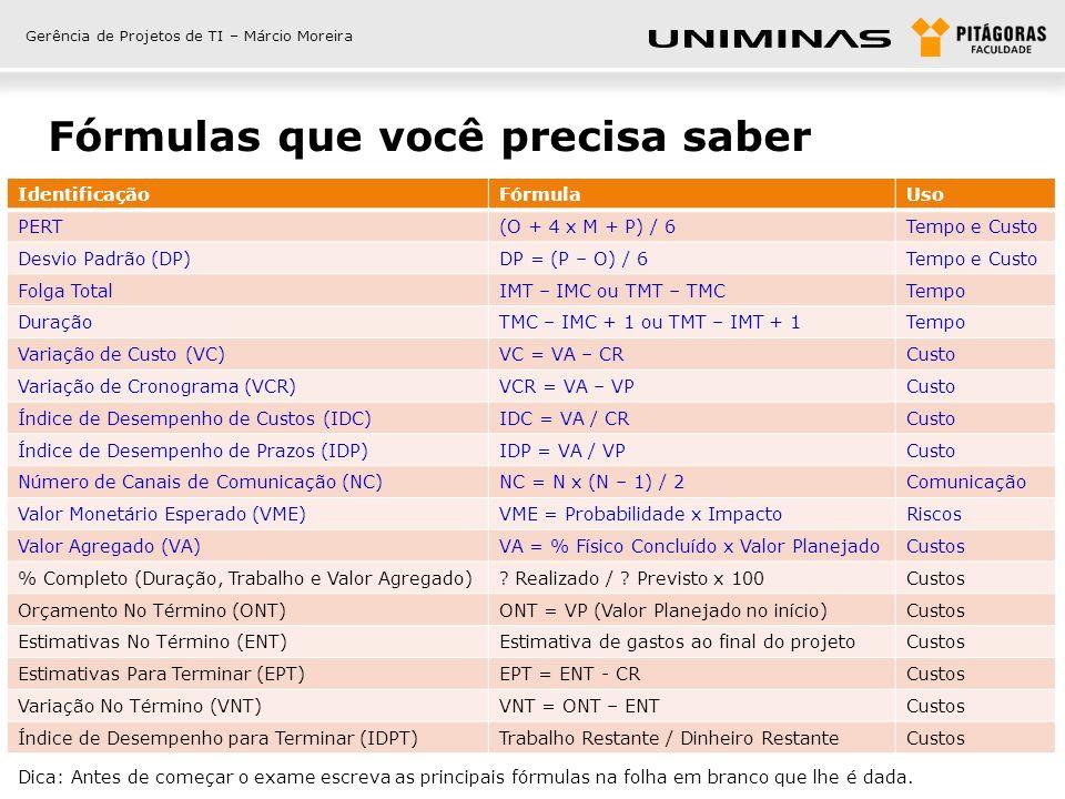 Gerência de Projetos de TI – Márcio Moreira Premissas para o exame O projeto da questão é grande A organização é matricial com um GP designado, você.