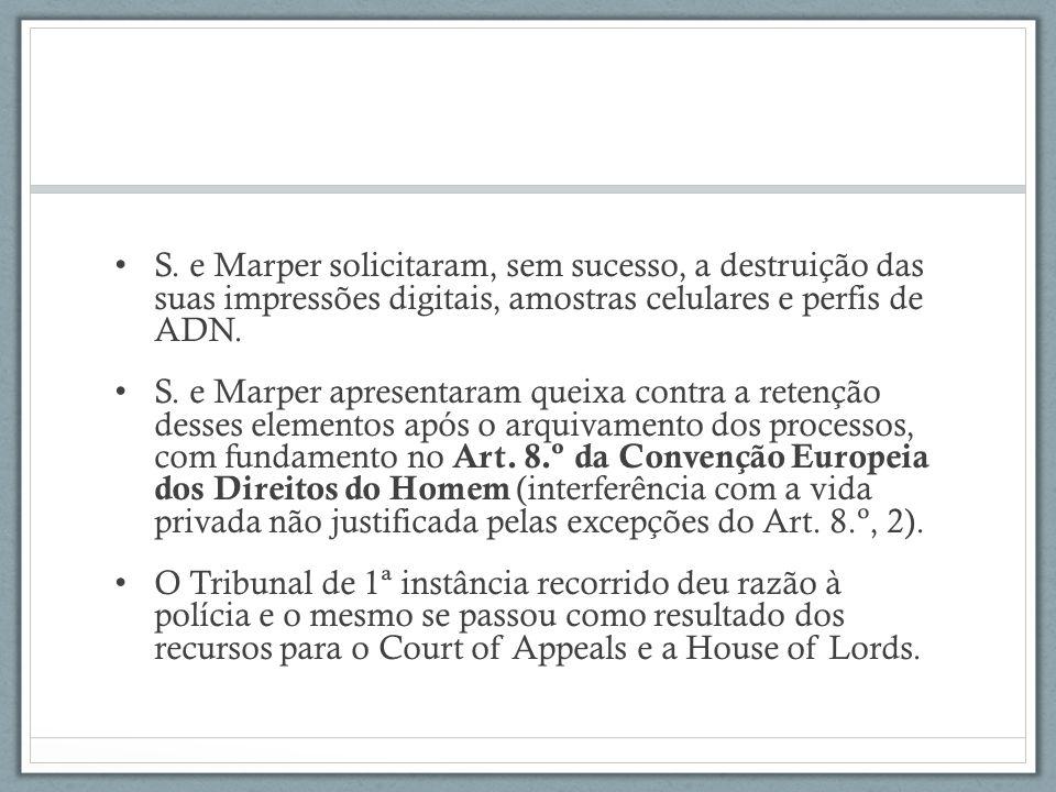 Art.8.º da CEDH Direito ao respeito pela vida privada e familiar 1.