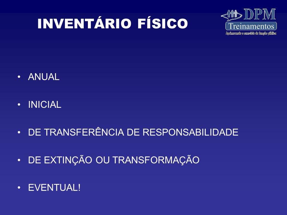 ANUAL INICIAL DE TRANSFERÊNCIA DE RESPONSABILIDADE DE EXTINÇÃO OU TRANSFORMAÇÃO EVENTUAL.