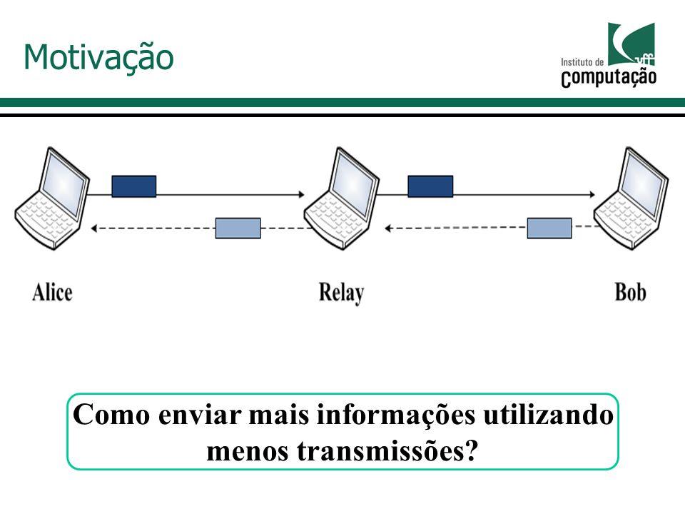 Motivação Como enviar mais informações utilizando menos transmissões