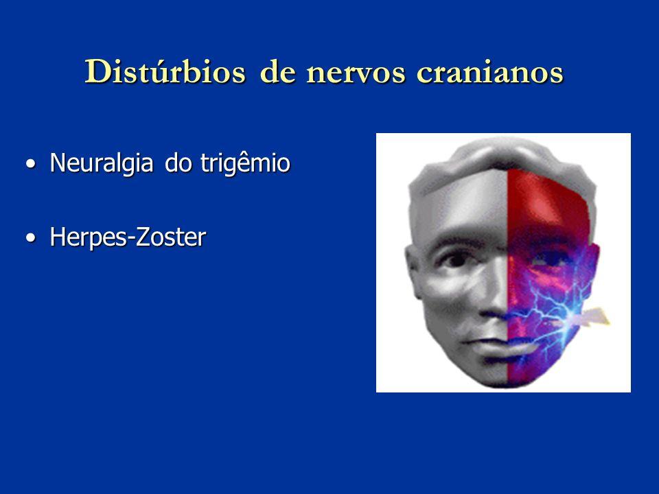 Distúrbios de nervos cranianos Neuralgia do trigêmioNeuralgia do trigêmio Herpes-ZosterHerpes-Zoster