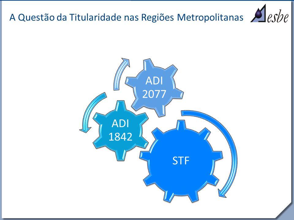 RRe A Questão da Titularidade nas Regiões Metropolitanas Poucos municípios têm condições de atender adequadamente à função pública de saneamento básico.