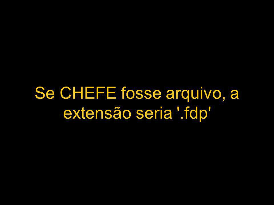 Se CHEFE fosse arquivo, a extensão seria .fdp