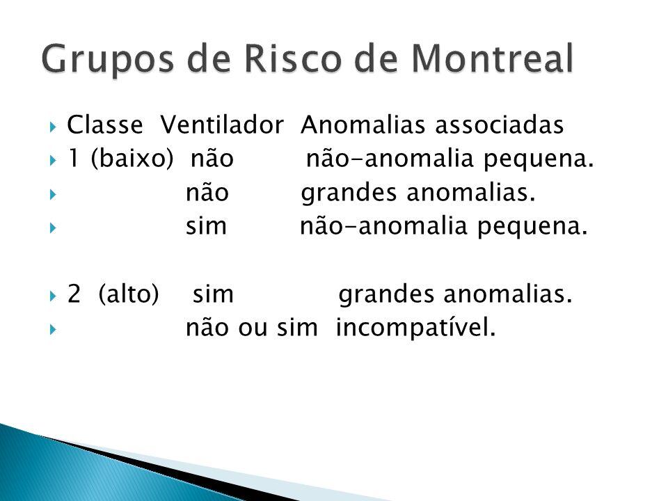 Classe Ventilador Anomalias associadas 1 (baixo) não não-anomalia pequena.