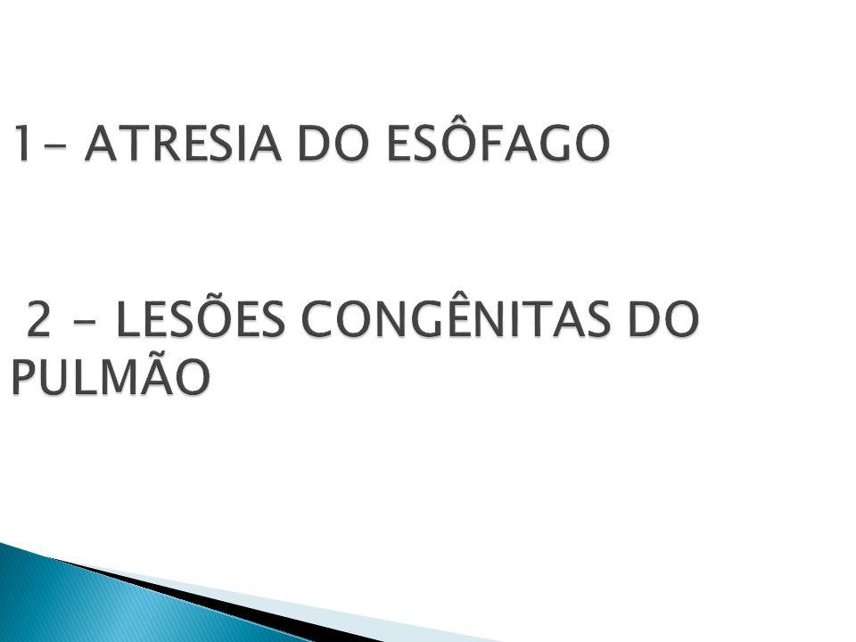 Enfisema Lobar Congênito.Doença Adenomatóide Cística.