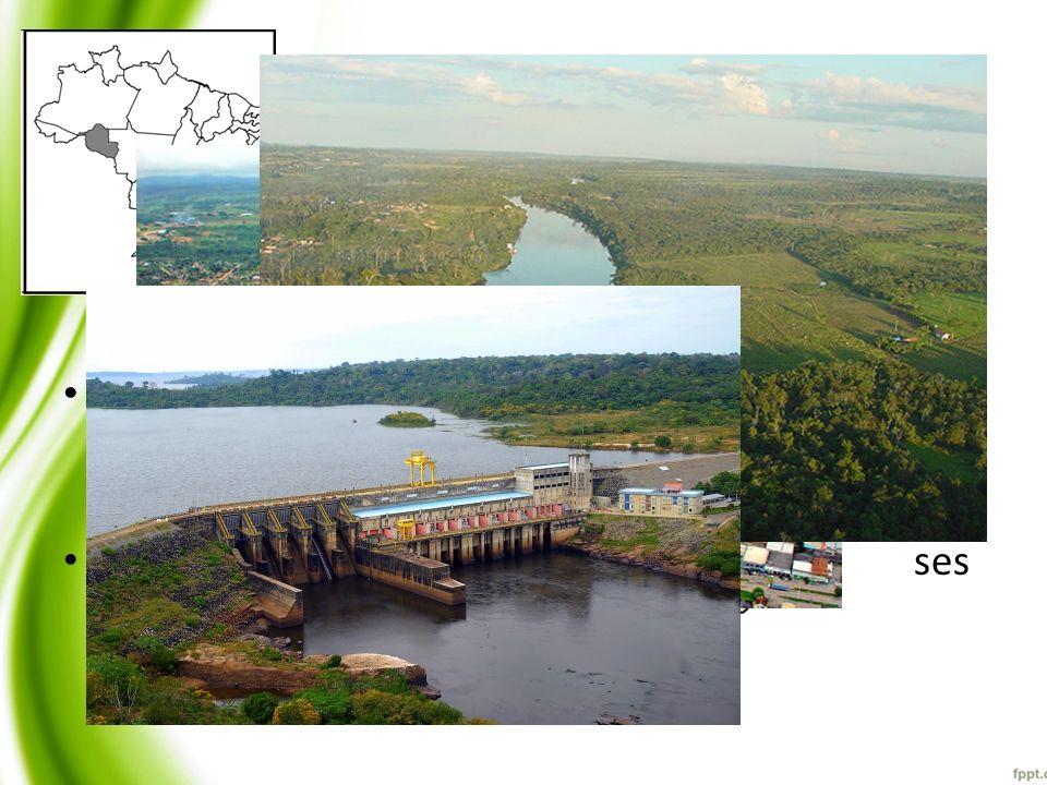 Bacía do Rio Machado Maior bacia de Rondônia com 75838,3162Km 2 ; 41 municípios, sendo fonte de abastecimento hídrico para maior parte; Possui grande