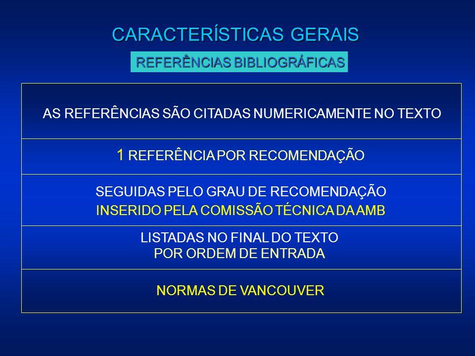 1 REFERÊNCIA POR RECOMENDAÇÃO AS REFERÊNCIAS SÃO CITADAS NUMERICAMENTE NO TEXTO NORMAS DE VANCOUVER LISTADAS NO FINAL DO TEXTO POR ORDEM DE ENTRADA CA