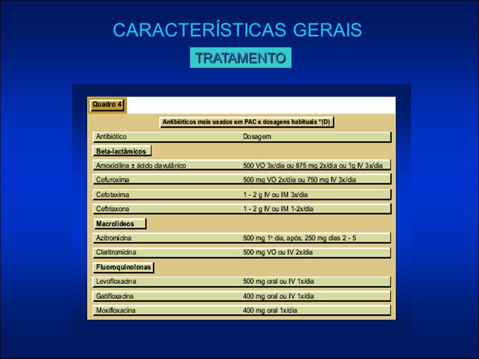 CARACTERÍSTICAS GERAISTRATAMENTO