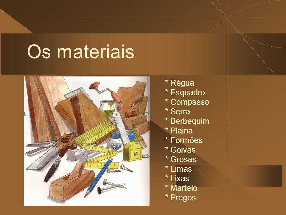 Técnicas da madeira * Medir e traçar * Serrar * Desbastar e escavar * Furar e unir * Acabamentos conservação e decoração