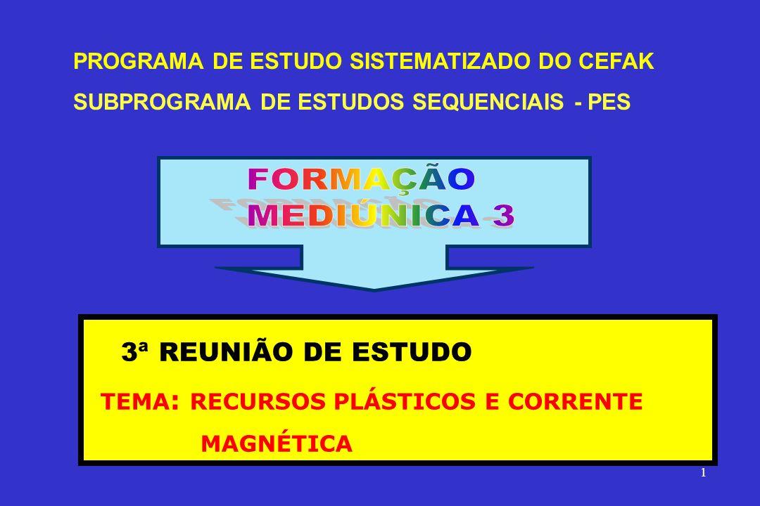 PROGRAMA DE ESTUDO SISTEMATIZADO DO CEFAK SUBPROGRAMA DE ESTUDOS SEQUENCIAIS - PES 3ª REUNIÃO DE ESTUDO TEMA : RECURSOS PLÁSTICOS E CORRENTE MAGNÉTICA 1