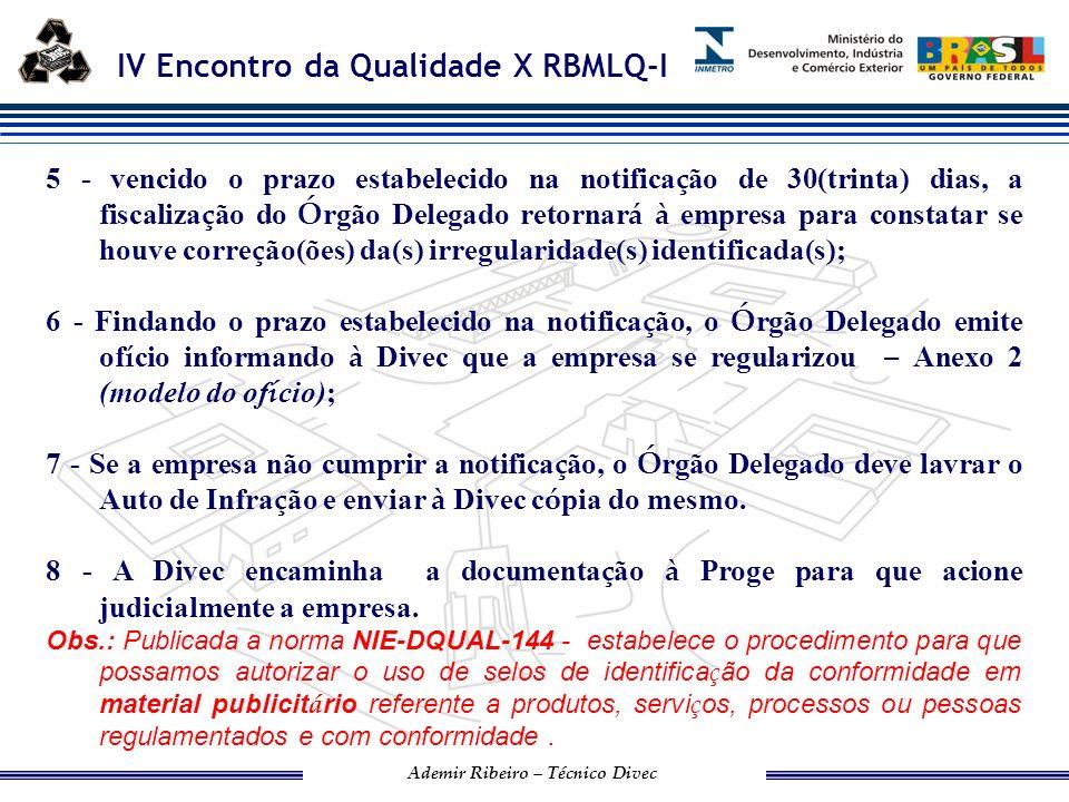 IV Encontro da Qualidade X RBMLQ-I Ademir Ribeiro – Técnico Divec ASSUNTOS GERAIS