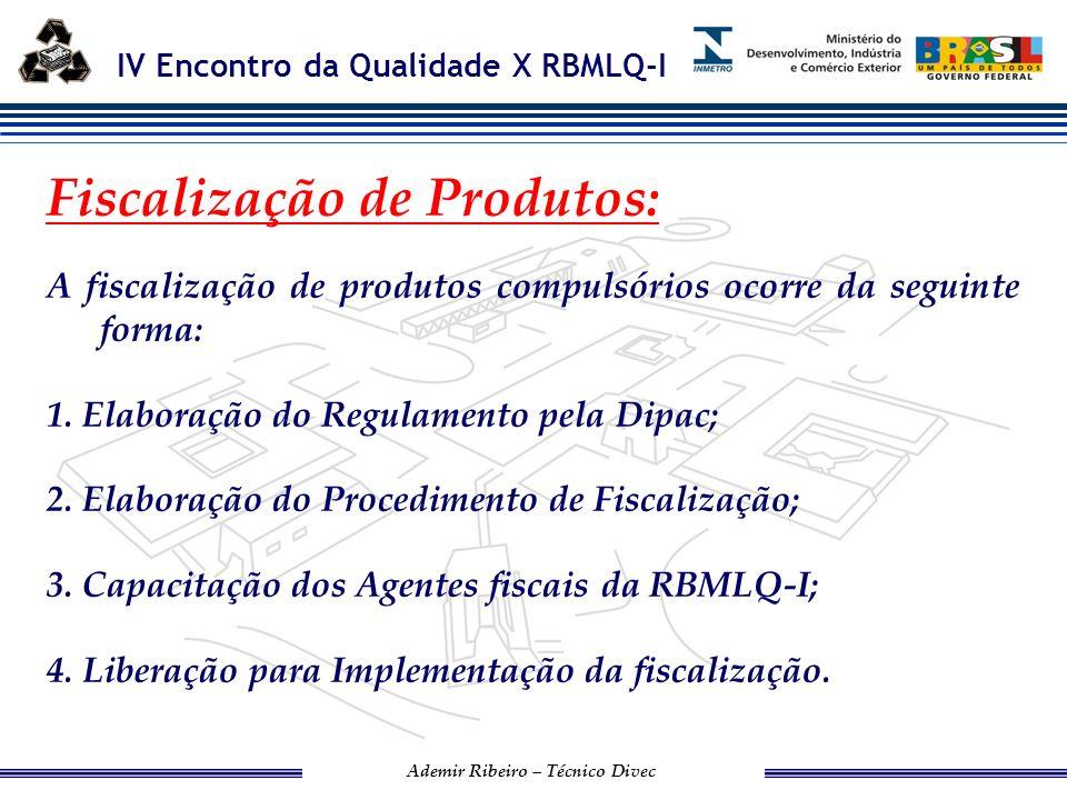 IV Encontro da Qualidade X RBMLQ-I Ademir Ribeiro – Técnico Divec APREENSÃO DE PRODUTOS RESOLUÇÃO CONMETRO 08/2006.