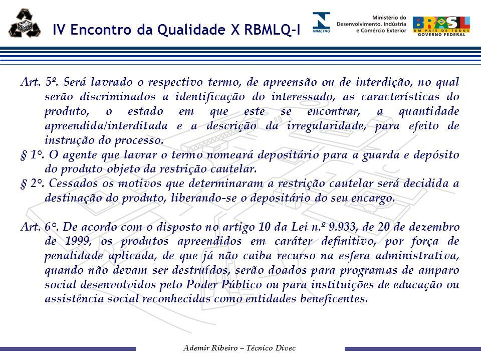 IV Encontro da Qualidade X RBMLQ-I Ademir Ribeiro – Técnico Divec PROCEDIMENTO DE FISCALIZAÇÃO
