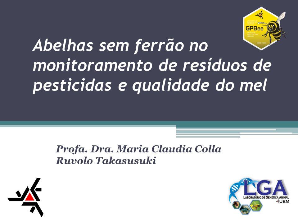 Abelhas sem ferrão no monitoramento de resíduos de pesticidas e qualidade do mel Profa. Dra. Maria Claudia Colla Ruvolo Takasusuki