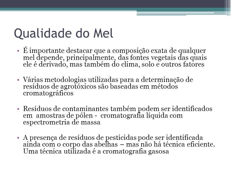 Qualidade do Mel É importante destacar que a composição exata de qualquer mel depende, principalmente, das fontes vegetais das quais ele é derivado, m