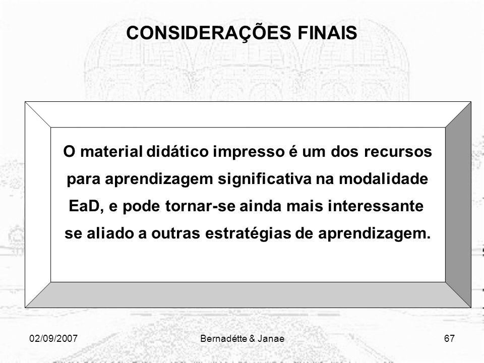 02/09/2007Bernadétte & Janae66 1. Decidir sobre o assunto do curso 2. Definir o perfil do público alvo 3. Descrição do módulo: pré-requisitos para par