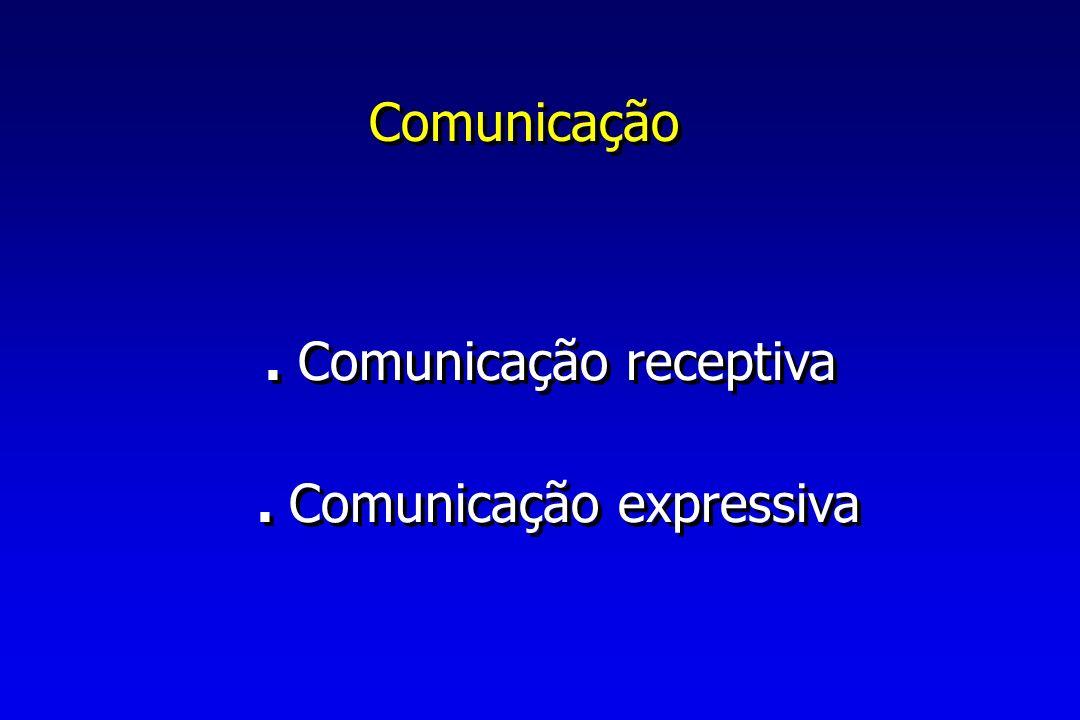 Comunicação.Comunicação receptiva. Comunicação expressiva.