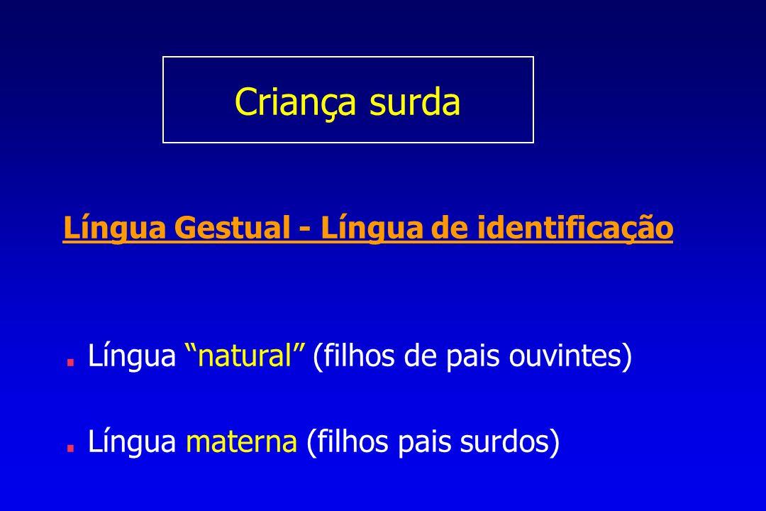 Criança surda Língua Gestual - Língua de identificação.