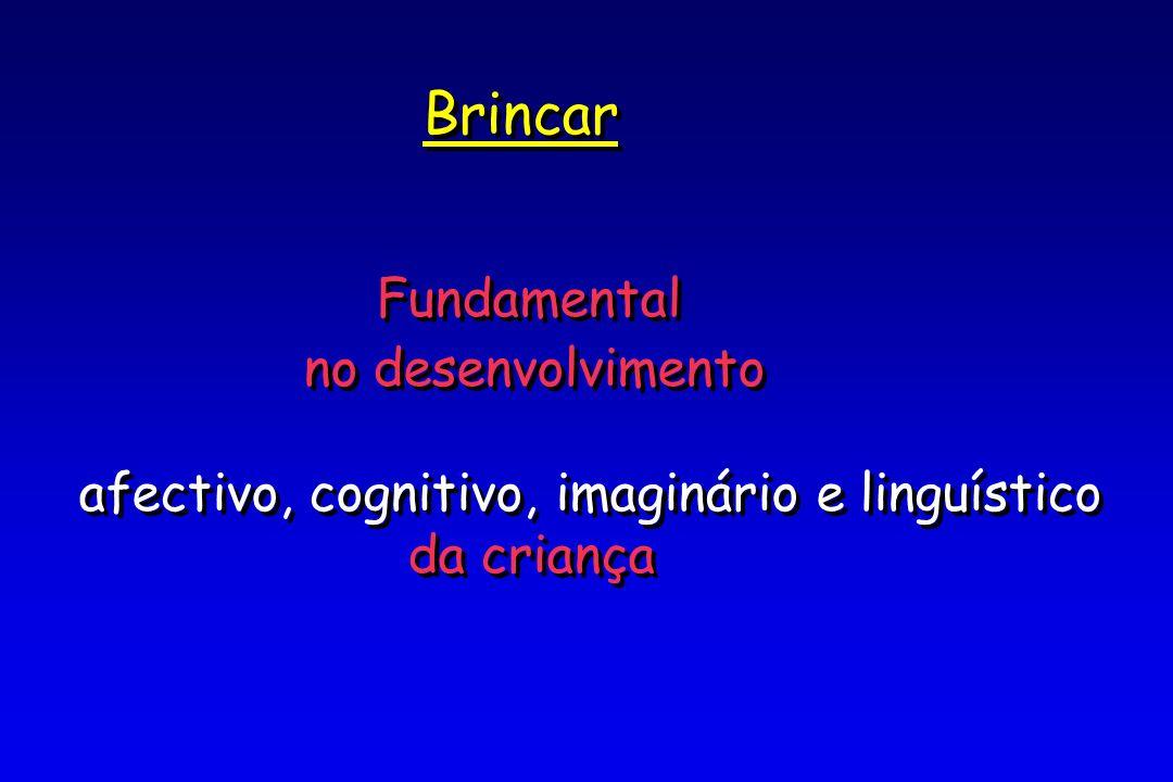 Brincar Fundamental no desenvolvimento afectivo, cognitivo, imaginário e linguístico da criança Brincar Fundamental no desenvolvimento afectivo, cognitivo, imaginário e linguístico da criança