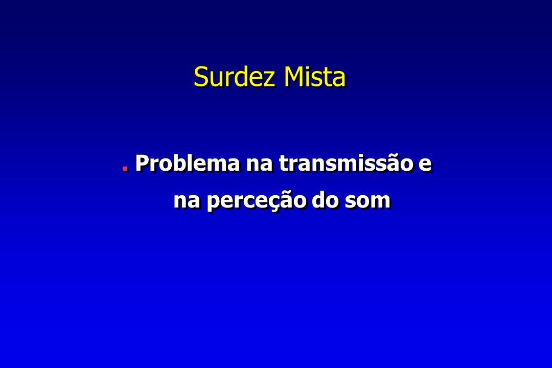 Surdez Mista.Problema na transmissão e na perceção do som.