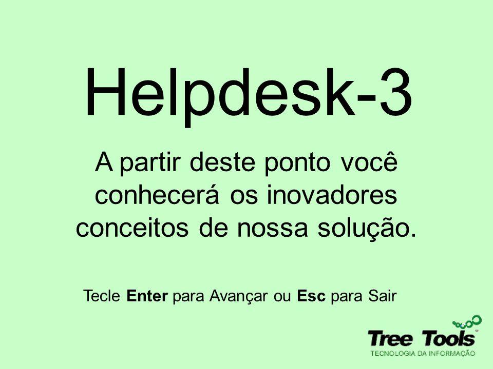 A partir deste ponto você conhecerá os inovadores conceitos de nossa solução. Tecle Enter para Avançar ou Esc para Sair Helpdesk-3