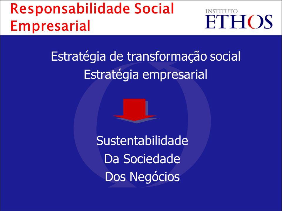 Estratégia de transformação social Estratégia empresarial Sustentabilidade Da Sociedade Dos Negócios Responsabilidade Social Empresarial